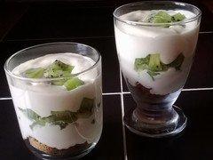 Tiramisu aux kiwis et chocolat blanc
