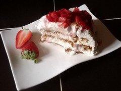Gâteau facile fraises/spéculoos